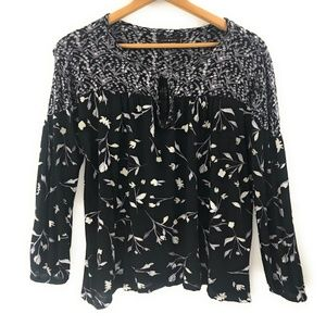 Lucky Brand Womens Floral Boho Top, 1X